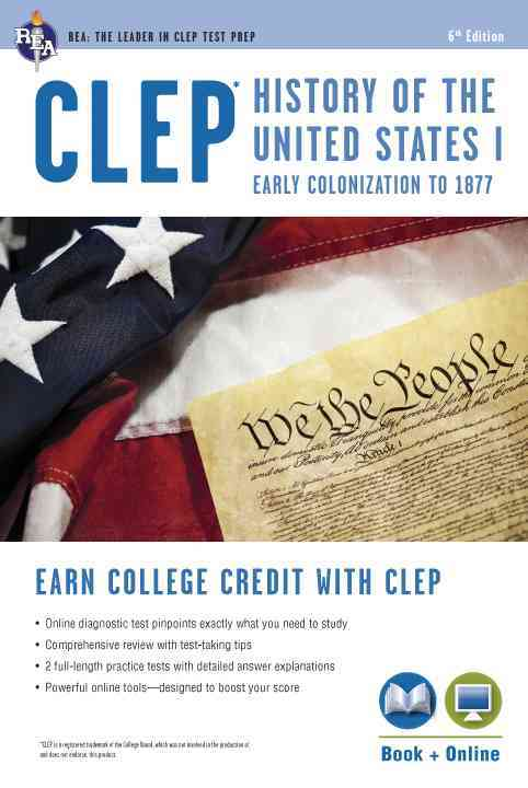 CLEP History of the United States I w/Online Practice Tests By Research and Education Association